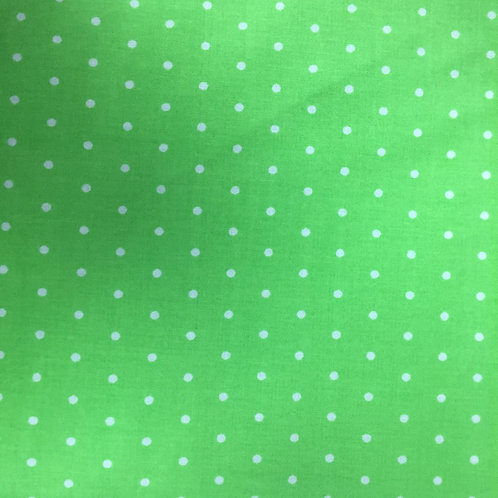 **SPECIAL** Lime Green & White Spots Quilt Fabric