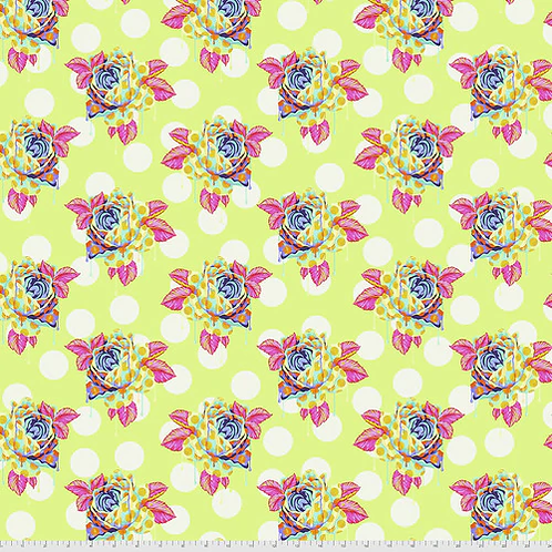 """Tula Pink """"Curiouser"""" Painted Roses Sugar PWTP161 Quilt Fabric"""