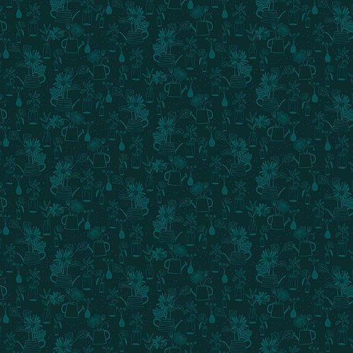 Figo Flora Black Outlines 90150-78 Quilt Fabric