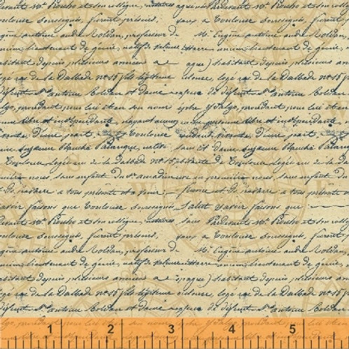 Windham Tall Ships Compass & Writing 42271-3 Quilt Fabric