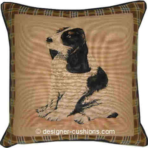 Blue Roan Cocker Spaniel Tapestry Cushion Cover
