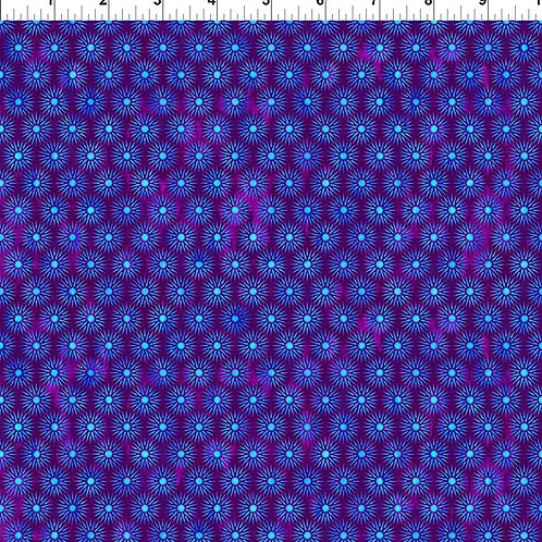 "Jason Yenter ""Cosmos"" Purple Starburst 8COS-1 Quilt Fabric"