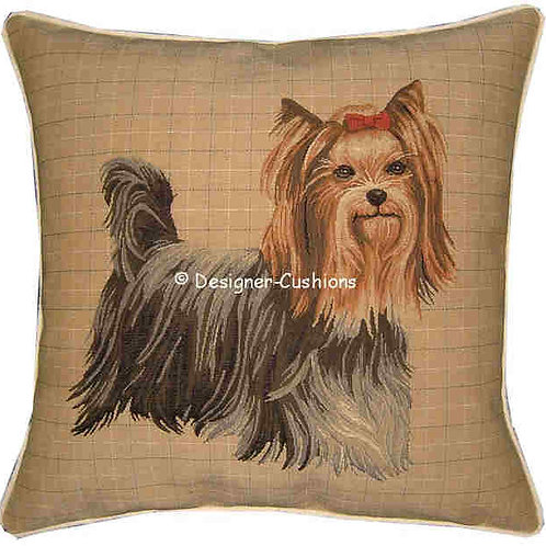 Yorkie Yorkshire Terrier Standing Tapestry Cushion Cover