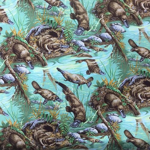Nutex Australiana Platypus Boondaburra Quilt Fabric