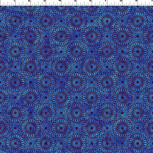 "Jason Yenter ""Cosmos"" Blue Starburst 7COS-1 Quilt Fabric"