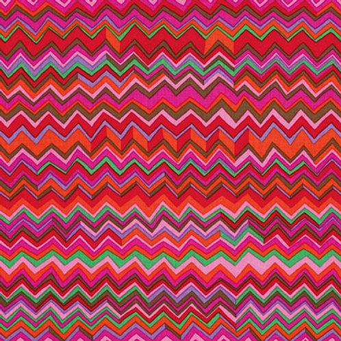 Kaffe Fassett Classics - Zig Zag Warm PWBM043 WARMX Quilt Fabric
