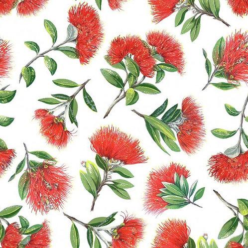 Nutex Kiwiana Pohutukawa Quilt Fabric