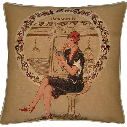 Cafe de Paris Brasserie Fashion Tapestry Cushion Cover