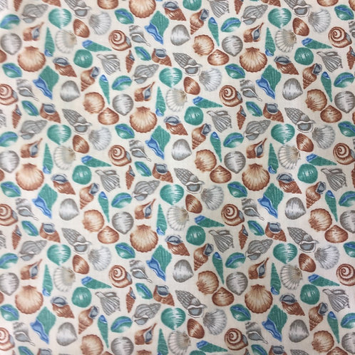 Makower Coastal Sea Shells Quilt Fabric