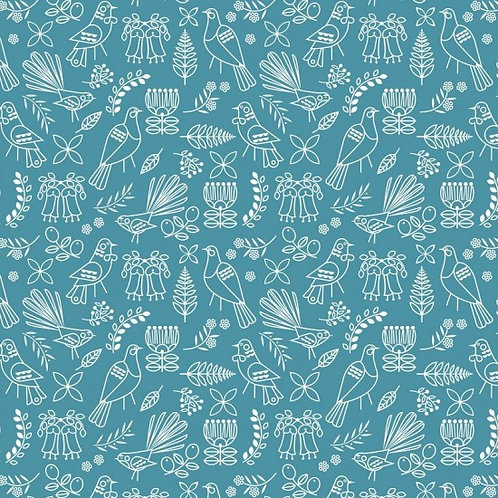 Nutex Early Birds Outline 80050 Col 4 Quilt Fabric