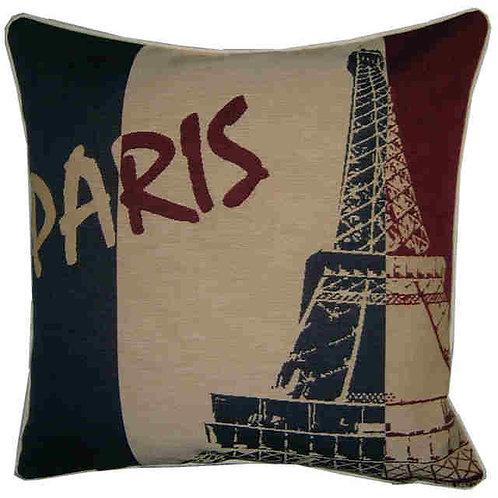 Paris Eiffel Tower Flag Tapestry Cushion Cover