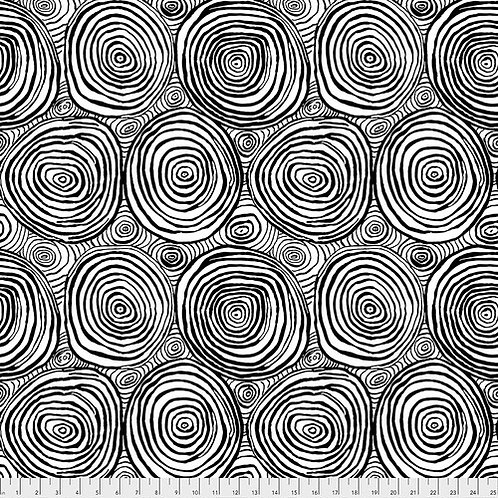 Kaffe Fassett Spring 2019 - Onion Rings Black PWBM070 BLACK Quilt Fabric