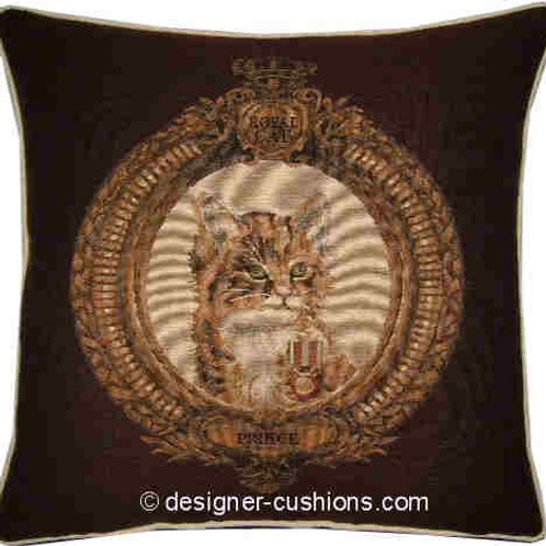 Kitten in Frame Prince Brown Tapestry Cushion Cover