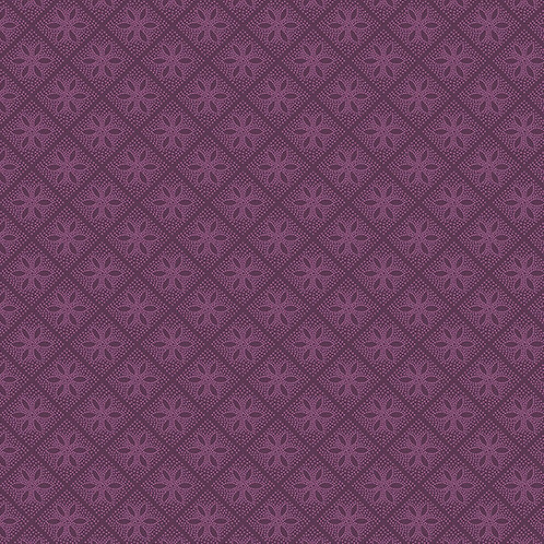 Andover 'Hat Box' Purple Squares 93560 Col3 Quilt Fabric