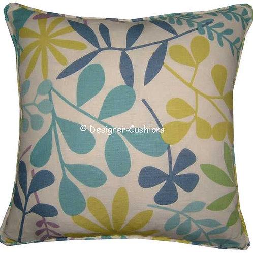 Jane Churchill 'Calder' Blue Colourway Linen Cushion Cover