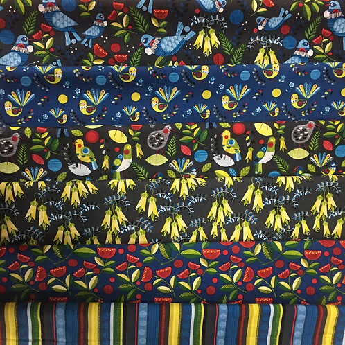 Nutex Forest Song 6 Fat Quarter Pack Quilt Fabric