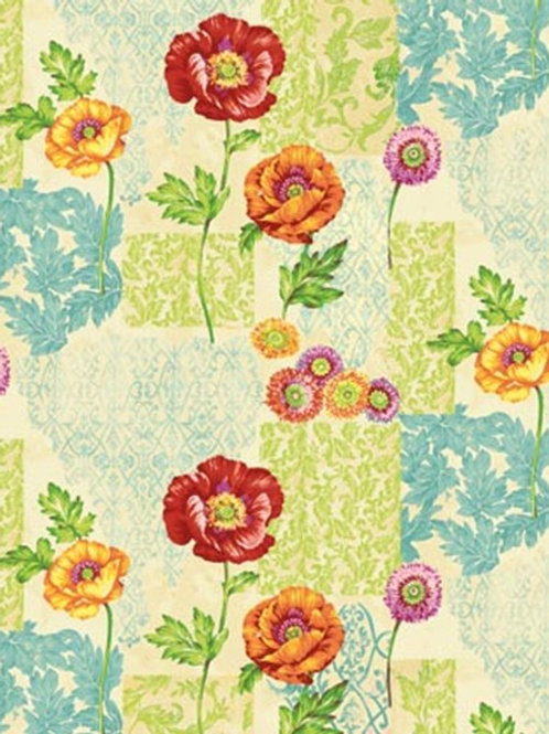 Northcott Poppy Love Floral Quilt Fabric Col 04
