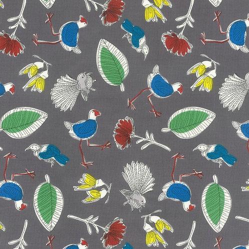 Nutex Kiwiana Bird Boutique Quilt Fabric 89430 Col1