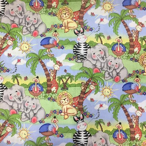 Springs Wild Animals Scenic Quilt Fabric