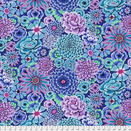 Kaffe Fassett Fall 2018 - Enchanted Garden Blue PWGP172 BLUEX Quilt Fabr