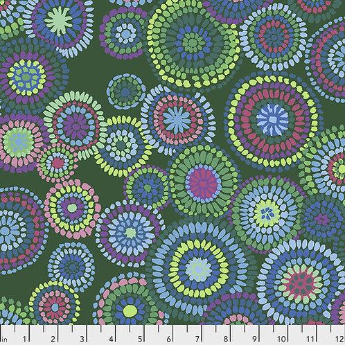 Kaffe Fassett Feb2020 - Mosaic Circles PWGP176 GREEN Quilt Fabric