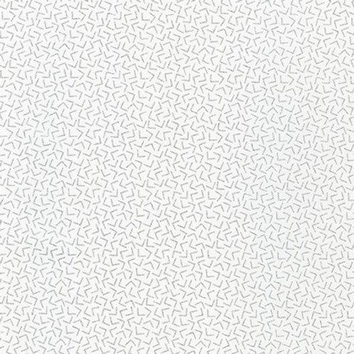 Robert Kaufman Whisper Metallics Blanc Angles 19219-303 Quilt Fabric