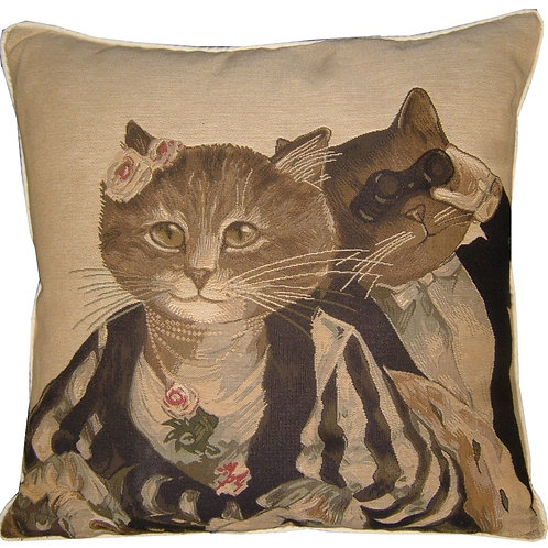 Susan Herbert Opera Cats Tapestry Cushion Cover