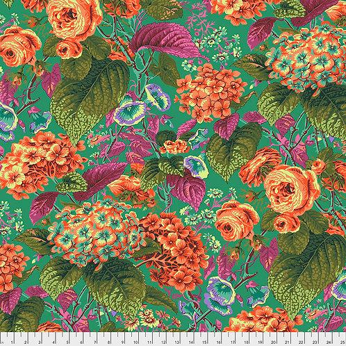 Kaffe Fassett Spring 2019 - Rose & Hydrangea Green PWPJ097 GREEN Quilt Fabric