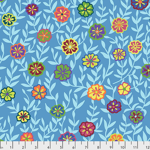 Kaffe Fassett Feb2020 - Busy Lizzy PWGP175 BLUE Quilt Fabric