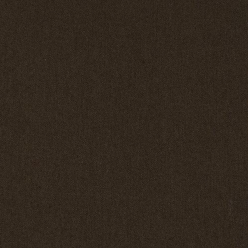 Chocolate Brown Homespun Cotton Quilt Fabric