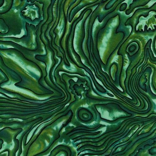 Nutex Kiwiana Paua Pacifica Greens Quilt Fabric