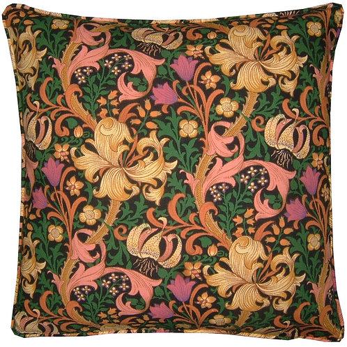 William Morris Golden Lily Minor Black Cushion Cover
