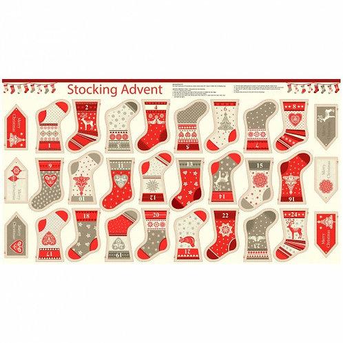 "Makower Scandi Stocking Advent Calendar 60cm / 24"" panel"