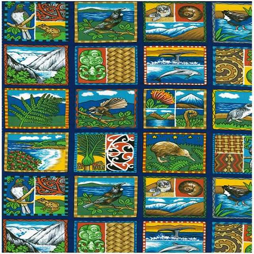 Nutex Kiwiana Images of Aotearoa Quilt Fabric
