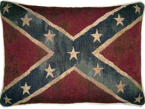 Vintage Style Confederate American Flag Tapestry Oblong Cush