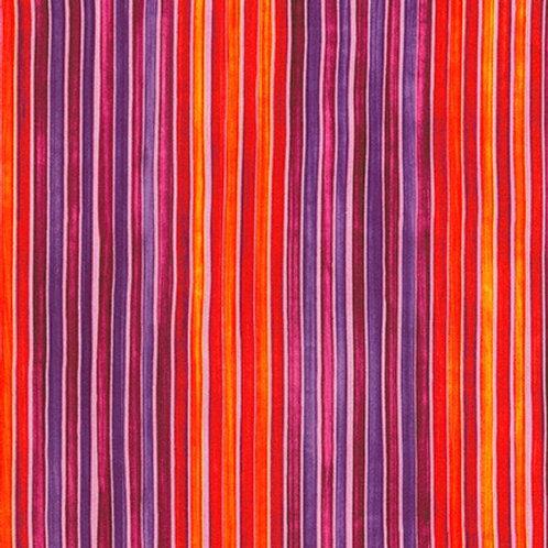 Robert Kaufman Synchronicity Stripe Wild 18694-286 Quilt Fabric
