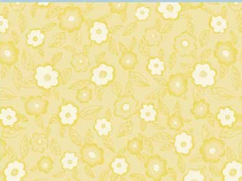 "Red Rooster ""Frakturs"" Yellow Floral Quilt Fabric 2656YEL1"