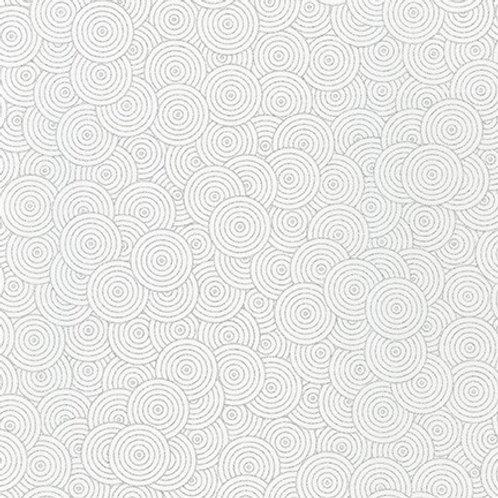 Robert Kaufman Whisper Metallics Blanc Circles 19218-303 Quilt Fabric