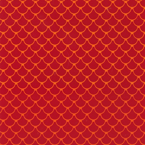 Nutex Novelty Little Noah Red Tiles 80190 Col9 Quilt Fabric