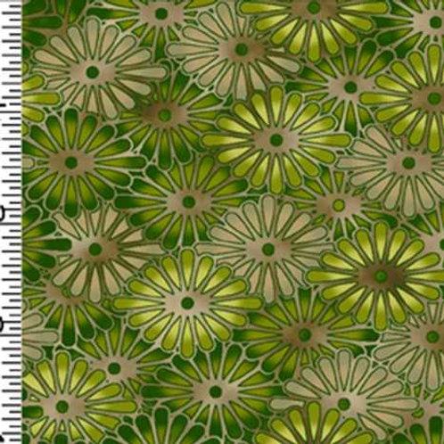 Kona Bay Geisha Dynasty GEIS-21GREEN Quilt Fabric