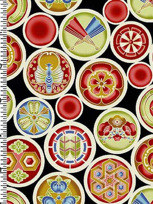 Kona Bay Geisha Dynasty GEIS-19BLA Quilt Fabric