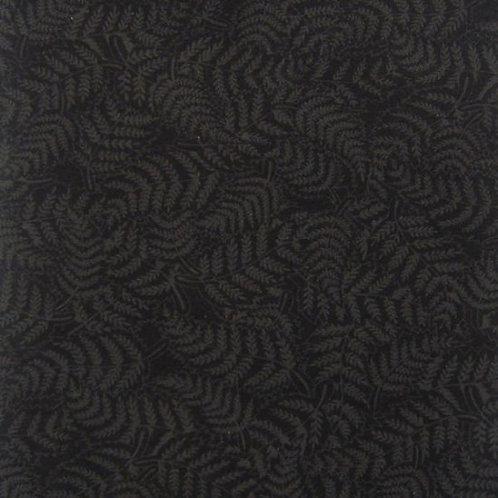 Nutex Kiwiana Fern Charcoal & Black Quilt Fabric 85740