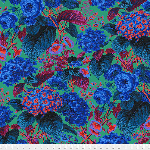 Kaffe Fassett Spring 2019 - Rose & Hydrangea Blue PWPJ097 BLUE Quilt Fabric