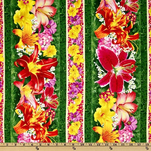 SSI Floral Fascination Border Quilt Fabric