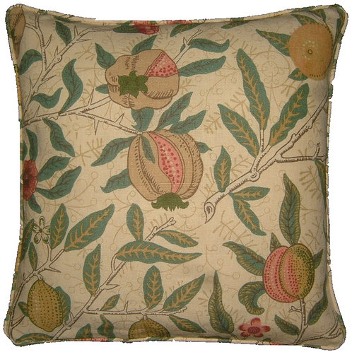 William Morris Fruit Major Linen Cushion Cover