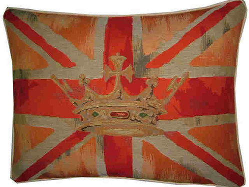 Union Jack Orange Design #2 Flag Tapestry Oblong Cushion Cover