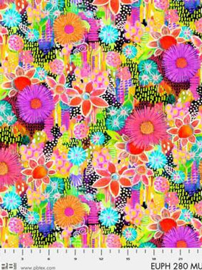 PB Textiles Euphoria EUPH 280 MU Quilt Fabric
