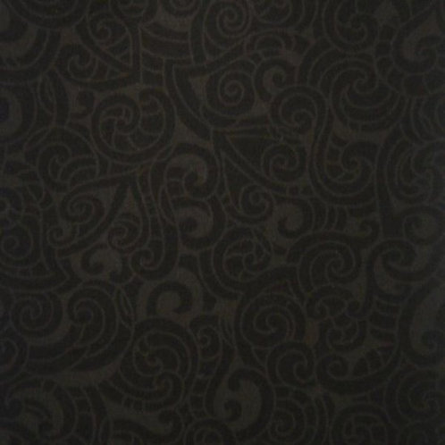 Nutex Kiwiana Moko Charcoal & Black Quilt Fabric 85200 Col5
