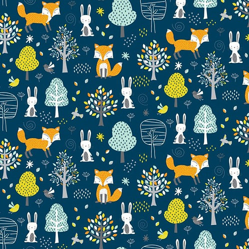 Nutex Novelty Woodland Friends Forest 89840 Col1 Quilt Fabric