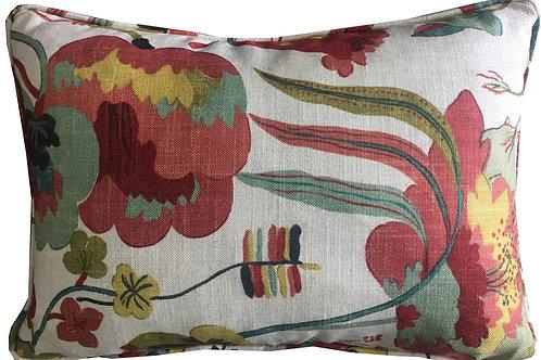G P & J Baker 'California' Jade Colourway Oblong Linen Cushion